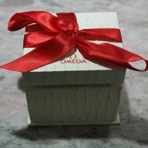 Omega vintage watch box lady white and red ribbon