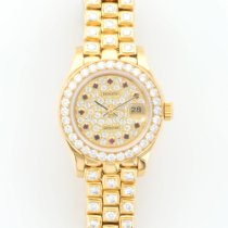 Rolex Yellow Gold Pearlmaster Diamond Ruby Watch Ref. 69298