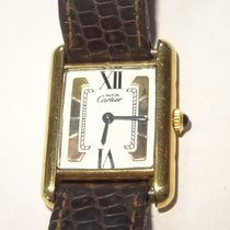 Cartier 18K Vermeil Tri-Color Tank Watch w Cartier Band &...