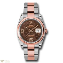Rolex Oyster Perpetual Datejust 18K Rose Gold & Stainless...
