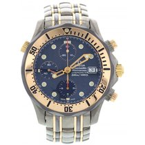 Omega Men's Omega Seamaster Titanium 18K Rose Gold Box...