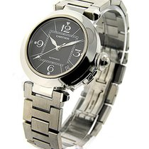 Cartier W31043M7 Pasha C - Steel with Black Dial