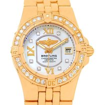 Breitling Starliner 30 Mother Of Pearl Diamond Watch H71340...