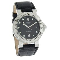 Movado Vizio Mens Black Date Dial Leather Strap Swiss Quartz...