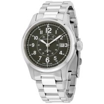 Hamilton Khaki Field Grey Dial Stainless Steel Mens Watch...