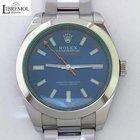 Rolex Milgauss Green Crystal Blue Dial