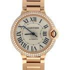 Cartier Ballon Bleu Pink Gold Original Diamond Watch WE9005Z3