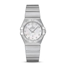 Omega Constellation Steel MOP Dial 123.10.27.60.55.004 Ladies...