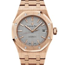 Audemars Piguet Royal Oal 37mm - rose gold - grey dial - bracelet