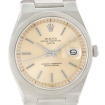 Rolex Oyster Perpetual Date Vintage Mens Stainless Steel Watch...