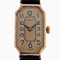 勞力士 (Rolex) 1929 9ct Gold Ladies Cornercut Genex