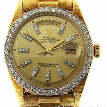 Rolex Day-Date President 1803 18k Yellow Gold Bark Finish...