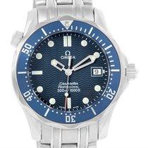 Omega Seamaster Bond Blue Wave Dial Midsize Quartz Watch...