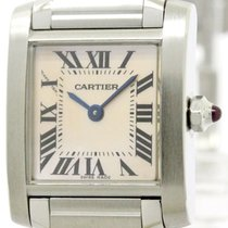 Cartier Polished Cartier Tank Francaise Pink Mop Dial Ladies...