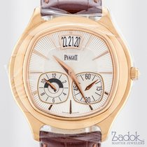 Piaget Emperador 18k Rose Gold Dual Time-Zone 42mm Men's...