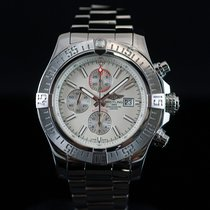 Breitling Super Avenger II White Dial Steel 48MM