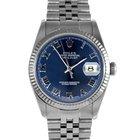 Rolex Mens 16234 Datejust - Blue Roman Numeral Dial 16234