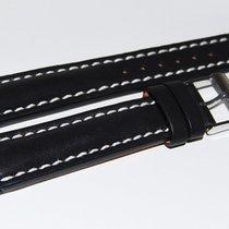 Breitling Kalbslederband mit Dornschliesse Schwarz 18-16 mm