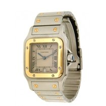 Cartier Santos 1566, Qaurtz Yellow Gold-steel. 29 Mm