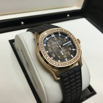 Patek Philippe Ladies Aquanaut Rose Gold Chocolate Rubber...