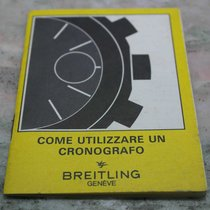 Breitling vintage booklet for chrono models italian language...
