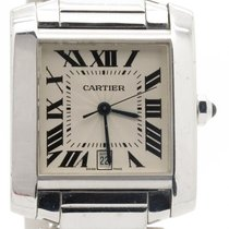 Cartier Tank Francaise  Ref 2366 Solid 18k White Gold Mens...