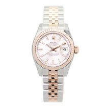 Rolex Lady Datejust 18k Rose Gold And Steel Pink Automatic...