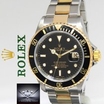 Rolex Submariner 18k Yellow Gold/Steel Black Dial/Bezel Mens...