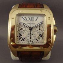 Cartier Santos 100 XL Chrono Yellow Gold