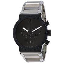 Movado Synergy Chronograph Black Dial Mens Watch 0606800