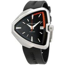 Hamilton Ventura Elvis80 Black Dial Men's Quartz Watch...