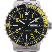 Fortis B-42 Marinemaster Day Date Yellow Stahl Automatik...