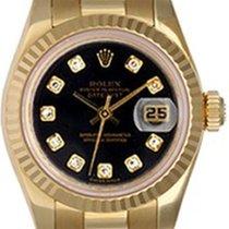 ロレックス (Rolex) Ladies President 18K Gold Watch 179178 Black Dial
