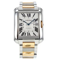Cartier Tank Angalise Xl W5310006 18k Rose Gold & Stainles...