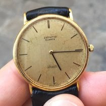 Zenith oro gold plated data date 32 mm silhouette