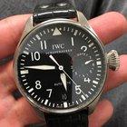IWC Big Pilot Black Dial Black Leather Men's Watch