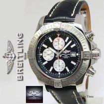 Breitling Super Avenger II Chronograph Steel Black Dial/Strap...