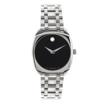 Movado Museum Cushion Men's Watch in Stainless Steel 84 F4...