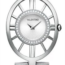 Valentino Vanity Steel & Diamond Womens Fashion Strap...