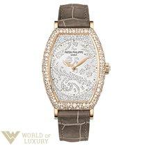 Patek Philippe Gongolo Rose Gold Diamond Paved Ladies Watch