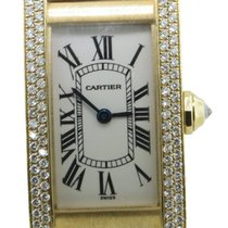 Cartier Tank Americaine Ref 1710 Lady's Solid 18k Yellow...