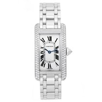 Cartier Tank Americaine (or American) Ladies White Gold...