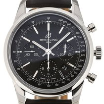 Breitling Transocean 43 Chronograph Black Dial