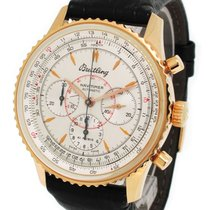 Breitling 18K Rose Gold Chronograph, with Box and Paper