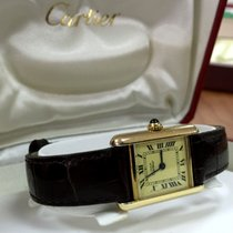 Cartier Tank Must Vermeil Silver Lady Watch Roman Dial (28 x...