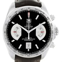 TAG Heuer Grand Carrera Brown Leather Strap Mens Watch Cav511a