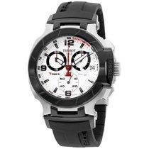 Tissot T-race White Dial Steel Case Men's Watch T048417270...