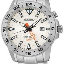 Seiko SUN025P1 Sportura Kinetic GMT Herren m. Stahlband 100M