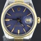 Rolex Datejust 36MM gold/steel blue dial vintage