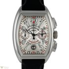 Franck Muller Conquistador Chronograph 18K White Gold Rubber...